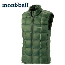 丹大戶外 日本【mont-bell】Superior 男款羽絨背心 1101468KHGN 卡綠