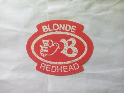 Blonde Redhead 2012年訪台DM貼紙
