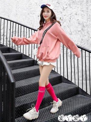 小腿襪 ins網紅長襪子女及膝中筒襪韓版街頭小腿襪潮牌韓國學院風堆堆襪