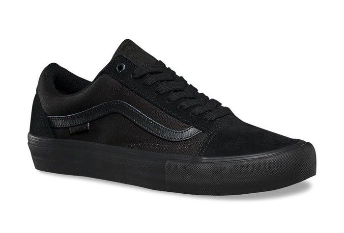 CHIEF' VANS 美版 Old Skool Pro 全黑色 麂皮 專業滑板鞋 舒適鞋墊 sz4.5~12 男女