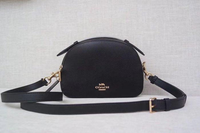 美國名品折扣店~ 特賣 COACH 1589 新款女士Serena 素面真皮手提包 單肩斜挎包 真皮女包 雙拉鏈相機包