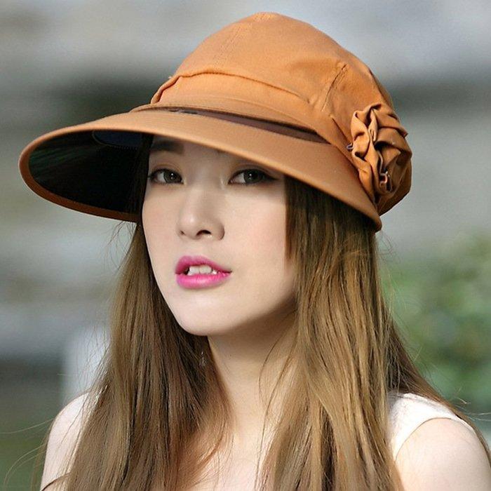 花朵PV鏡片 涼感防曬遮陽帽 透氣 防曬 機能 外出 遮陽 小臉帽 涼感   抗UV