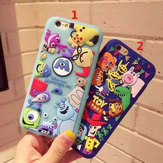 iPhone 8 7 6s plus立體迪士尼怪獸大學 蘋果i8 plus矽膠手機殼 保護套 保護殼全包防摔