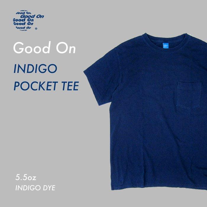 WaShiDa【GOST0903I】Good On 日本品牌 藍染 5.5oz 美國棉 口袋 素面 短袖 T恤