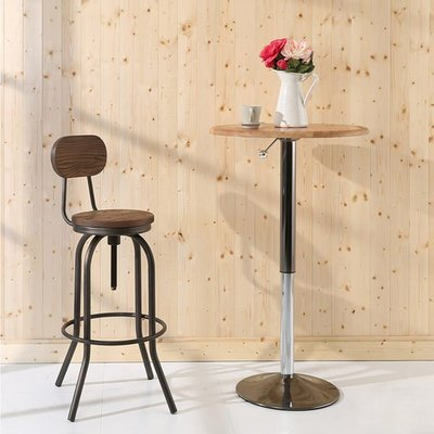 臥室/客廳/玩具室【居家大師】復古LOFT工業風旋轉式升降吧台椅 椅子 主管椅 I-EB-CH094