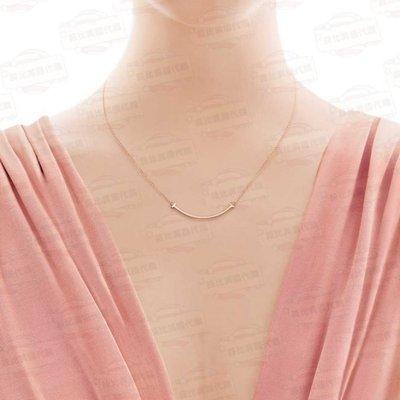 【菲比代購&歐美精品代購專家】Tiffany & Co. 蒂芙尼 925純銀 T系列 Smile鍊墜 玫瑰金 小微笑項鍊