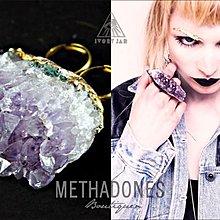 特價4折! MTDS Ivory Jar Double Ame Ring100%純天然紫水晶雙指戒