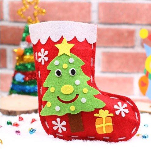 現貨聖誕節禮物聖誕襪聖誕包聖誕袋手作不織布卡通背包diy聖誕禮物DIY聖誕 耶誕節 聖誕樹 聖誕 雪人 幼稚園手作聖誕