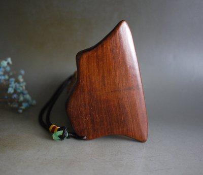 大紅酸枝 老撾料 帶水波紋 -  刮痧板 - 專為刮痧設計 精小細磨  P2343