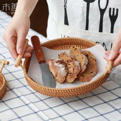 爆款 藤編托盤 水果盤 面包籃 茶點盤...