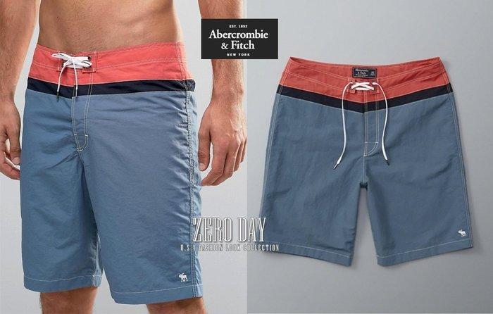 【零時差美國時尚網】A&F Abercrombie&Fitch Board Fit Swim Shorts麋鹿海灘褲紅藍