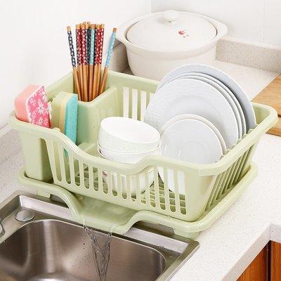 廚房碗櫃塑料北歐瀝水碗架裝碗筷收納箱放碗盤餐具收納盒置物架子