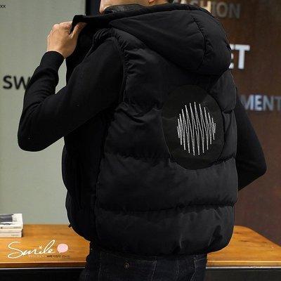 【Y207】SMILE-百搭時尚.秋冬季男保暖馬甲羽絨棉背心外套