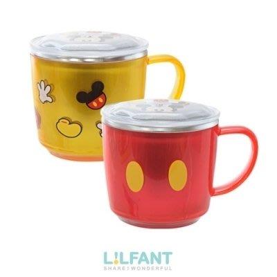 ❅PAVEE❅ 韓國Lilfant~ 迪士尼 米奇 防燙防滑 有蓋304不鏽鋼杯/兒童水杯