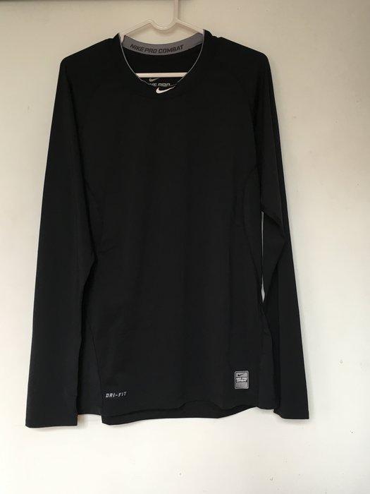 Nike Pro Combat 中信兄弟象 球員版 緊身衣 實使用 支給品 棒壘球 長袖 合身版 排汗衫 M號 拍賣唯一