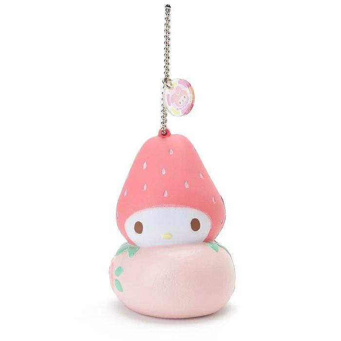 玫瑰默契~ 美樂蒂Melody明星裝扮和菓子系列可愛QQ吊飾捏捏療癒草莓大福