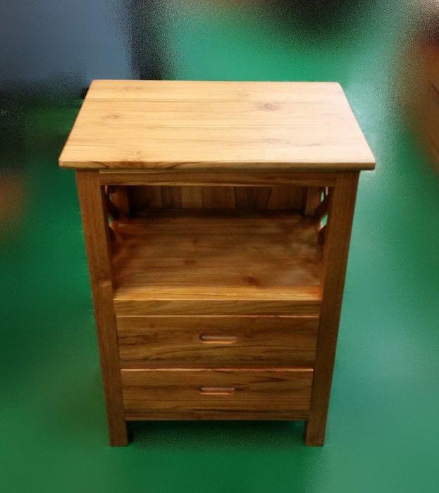 宏品二手家具 TK-C0E *原木 柚木編織2抽收納櫃* 床頭邊櫃 電話架 矮櫃 藝品櫃 花瓶架 展示櫃