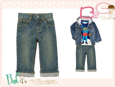 【B& G童裝】正品美國進口GYMBOREE Cuffed Jean 灰色裝飾褲圍牛仔長褲2yrs