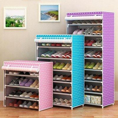 現貨/鞋架簡易經濟型家用家里人組裝宿舍多層防塵多功能鞋架省空間鞋櫃162SP5RL/ 最低促銷價