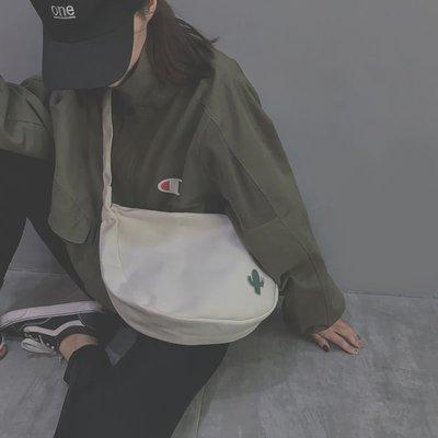 學生書包2018新款潮百搭斜挎ins慵懶風學生韓版原宿ulzzang單肩帆布包包女