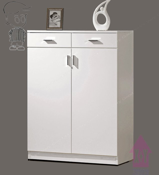 【X+Y時尚精品傢俱】現代鞋櫃玄關櫃系列-米洛斯 2.7尺白色鞋櫃.鞋櫥.側板低甲醛防蛀木心板.摩登家具