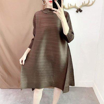七分袖洋 裝 連身 短裙-純色立領寬鬆A字裙女裙子8色73yf13[獨家進口][米蘭精品]