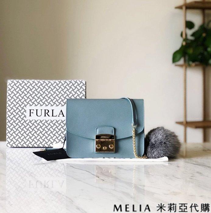 Melia 米莉亞代購 商城特價 數量有限 每日更新 19ss FURLA 芙拉 單肩斜背包 中號 送兔毛吊飾 淺藍色