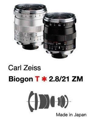 @佳鑫相機@(全新)Zeiss蔡司 ZM Biogon T* 21mm F2.8 (銀) Leica M用 公司貨特價中