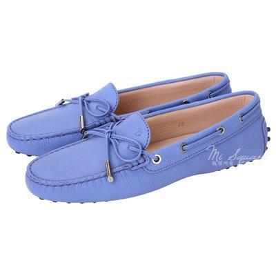 米蘭廣場 TOD'S Gommino 壓紋牛皮綁帶豆豆休閒鞋(女鞋/丁香藍) 1540692-27