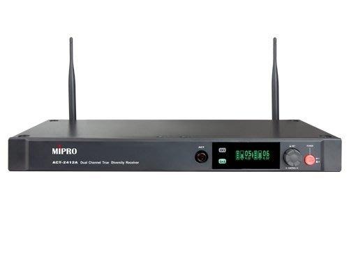 面可議價 來電店內更便宜 竹北鴻韻音響影音生活館 MIPRO嘉強電子 ACT-2412A 分離式天線1U雙頻道接收機