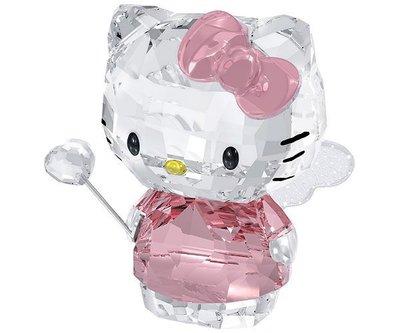 甯@全新專櫃正品 SWAROVSKI 施華洛世奇 水晶塑像~ Hello Kitty 粉紅小天使 仙女