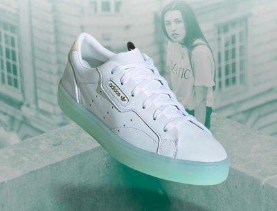 【吉米.tw】ADIDAS 果凍底女鞋 ORIGINALS SLEEK 白綠 蒂芬妮綠 增高 G27342 AUG a