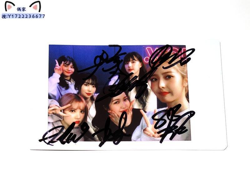 GFRIEND 親筆簽名周邊 原版拍立得寶麗來照
