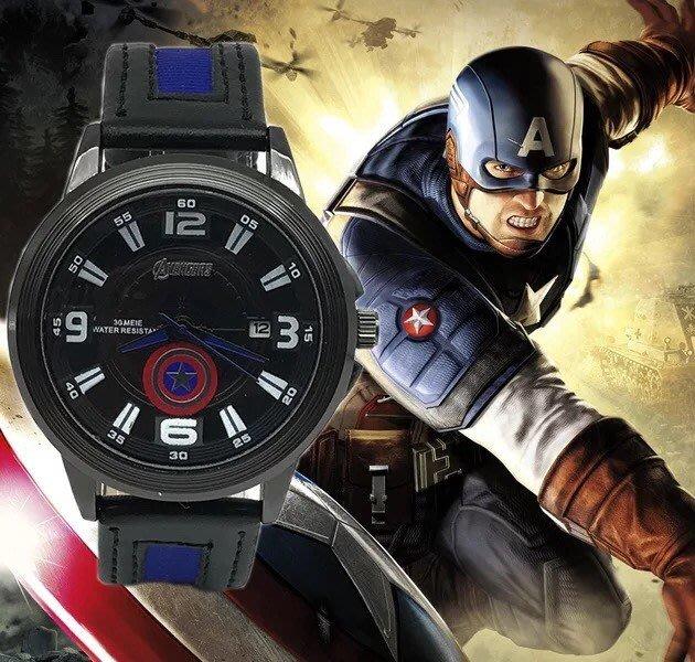 ✿荳荳小舖✿復仇者聯盟 可愛學生手錶 兒童手表 (美國隊長 現貨) 指針式