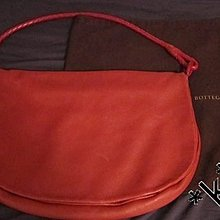 BOTTEGA VENETA 紅色 小羊皮 經典編織手袋 郵差袋 單肩袋 肩背袋