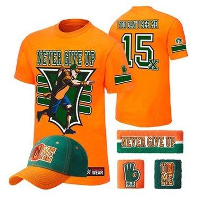 WWE摔角衣服Roman Reigns One Versus All Authentic美摔約翰塞納短袖T恤+帽子+護腕