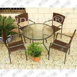 INPHIC-綠葉戶外休閒編藤仿藤 庭院 酒吧 咖啡廳 桌椅