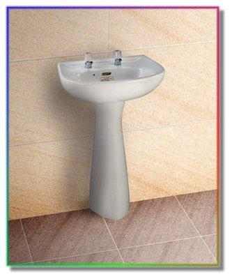 【工匠家居生活館】摩登衛浴  LF-80  奈米瓷 面盆  高級臉盆 + 長瓷腳 洗臉盆