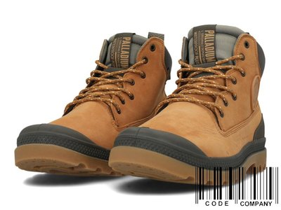 =CodE= PALLADIUM PAMPA SC OUTSIDER WP+ 防水皮革軍靴(土黃)76472-717 女