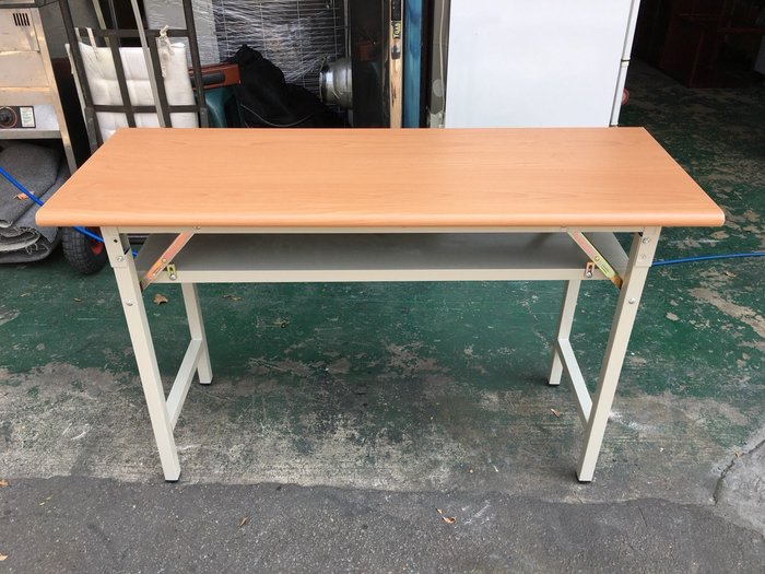 非凡二手家具 全新 木紋檯面1.5x4尺折合會議桌*辦公桌*洽談桌*開會桌*工作桌*電腦桌*事務桌*主管桌*書桌