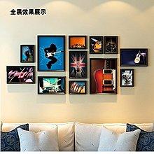 琴行培訓機構懷舊臥室溫馨裝飾畫音樂照片牆吉他樂器相框組合壁畫(4組可選)