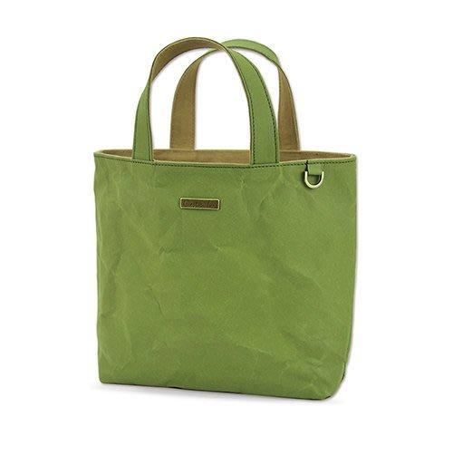 C'est Si Bon|【現貨。免運】洗舊皮革紙小托特包/散步包-草本綠 盒裝