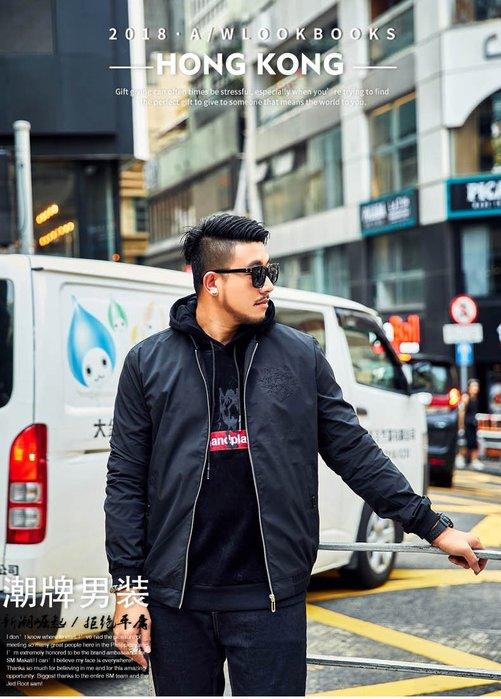 【奈司酷比】大尺碼新款秋冬大碼潮流百搭休閒立領男生夾克外套(黑色)-BLH42 2XL-7XL