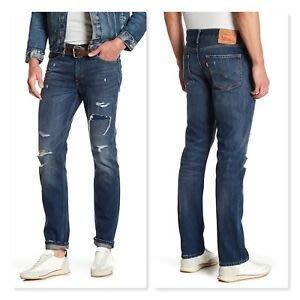 【破壞加工28-38腰】美國LEVI S Skinny 510 Comeback合身窄版厚磅小直筒牛仔褲丹寧褲511