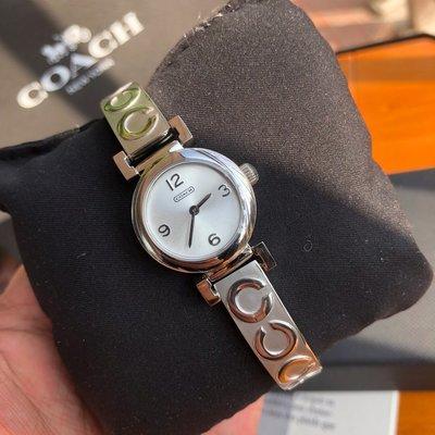 【Woodbury Outlet Coach 旗艦館】COACH 手鐲款 精鋼錶帶 石英手錶 女錶 精緻小巧 美國代購