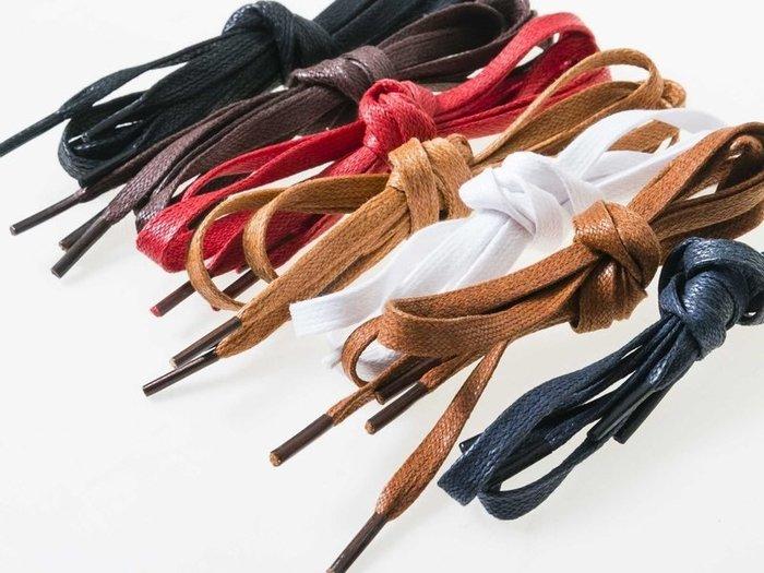 【幸福2次方】上蠟打蠟皮鞋鞋帶 軍靴鞋帶 扁鞋帶 長100cm 寬0.6cm - 多色可選