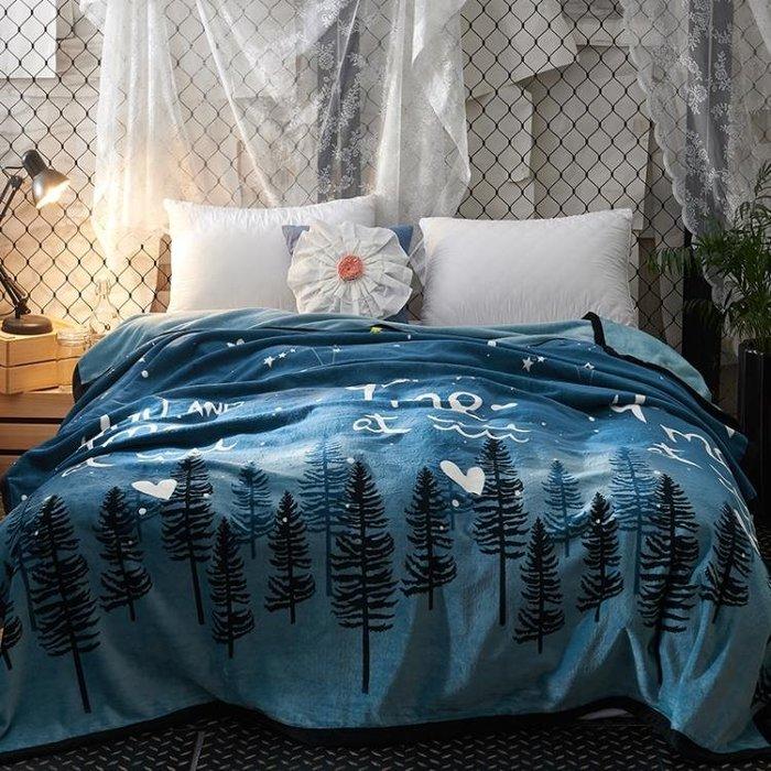 冬季空調毯珊瑚絨毯子加厚兔兔絨毛毯床單午睡單雙人毛巾被子蓋毯