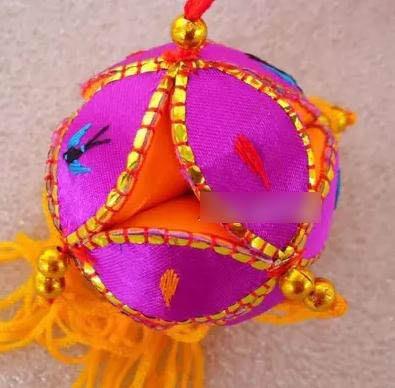 【手工繡球-直徑2cm/4CM-1個/組】靖西舊州壯族純手工繡球 特色工藝品 掛件 刺繡 -38010