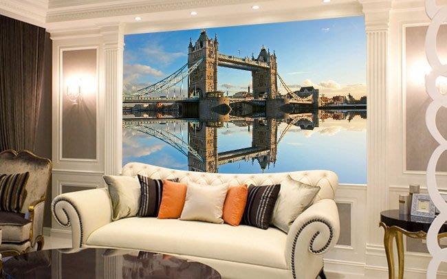 客製化壁貼 店面保障 編號F-276 英國倫敦橋 壁紙 牆貼 牆紙 壁畫 星瑞 shing ruei