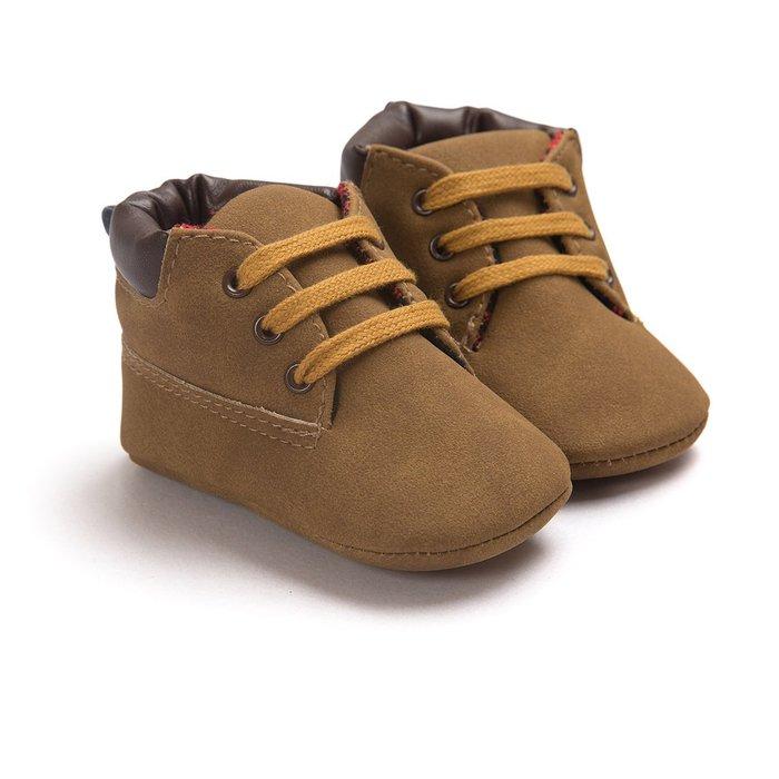 森林寶貝屋~深咖啡休閒鞋~學步鞋~幼兒鞋~寶寶鞋~娃娃鞋~童鞋~綁帶設計~坐學步車穿~彌月贈禮~特價